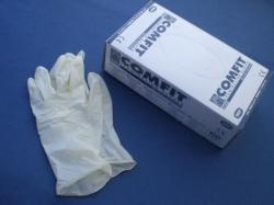 Vyšetřovací nesterilní rukavice s pudrem - vinylové M