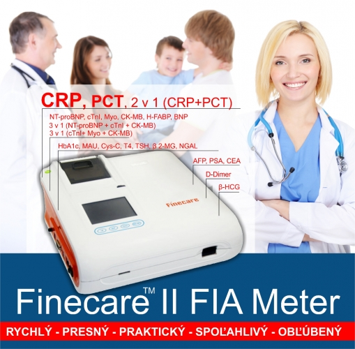 Multifunkční analyzátor pro ambulantní lékaře Finecare II FIA Meter (Analyzátor CRP, PCT, NT-proBNP, cTnl, Myo, CK-MB, H-FABP, BNP, HbA1c, MAU, CYS-C, T4, TSH, NGAL, AFP, PSA, CEA, D-dimer, HCG)