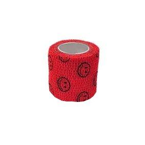 Elastické kohezivní obinadlo 5 X 450 cm StokBan barva červená - smajlík