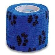Elastické kohezivní obinadlo 5 X 450 cm StokBan barva modrá - tlapky